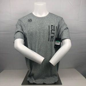 NWT Nike Gray Elite Short Sleeve Basketball TShirt